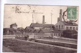 21 AISEREY  La Sucrerie Et Le Canal De Bourgogne 1923 Animée - Industrie