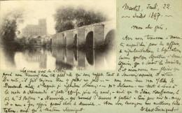 CPA (78) MANTES  Le Vieux Pont De Limay - Mantes La Jolie