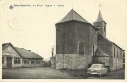 Solre Saint Géry  La Place L'église Et L'école (2191) - Churches & Cathedrals