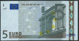 S ITALIA  5 EURO J001 B4  DUISENBERG   UNC - EURO