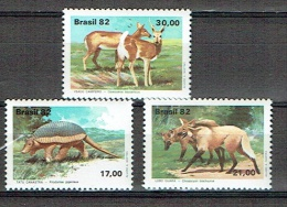 BRESIL 1982, ANIMAUX PROTEGES, 3 Valeurs, Neufs / Mint. R255 - Zonder Classificatie