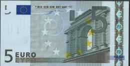 S ITALIA  5 EURO J001 B3  DUISENBERG   UNC - EURO