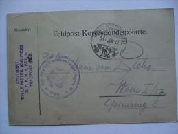 AUSTRIA WW1 CARD TABORI POSTAHIVATAL 162 LEUTNANT WILLY RITTER VON FICHS S.F.A.R.5,BTT,3. - 1850-1918 Imperium