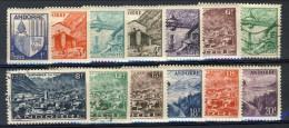 Andorra 1948-51 Lotto Di 13 Bolli Della Serie N. 119-137 Paesaggi * MLH E Usati. Catalogo € 44 - Andorra Francese