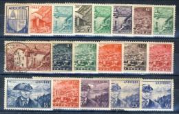 Andorra 1948-51 Serie N. 119-137 Paesaggi *MLH (n. 127 Usato) Catalogo € 72 - Andorra Francese