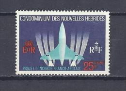 """NOUVELLES-HEBRIDES . YT 276 Avion Supersonique Franco-britannique """"Concorde"""" 1968 Neuf ** - Leggenda Francese"""