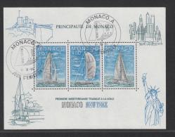 MONACO USED MICHEL BL 30 TRANSAT MONACO-NEW YORK - Bloques