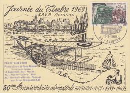 Carte Locale  1er  Jour  JOURNEE  Du  TIMBRE    AVIGNON   1969 - Día Del Sello