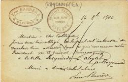 BAYONNE - Emm. BARRERE - Carte Postale De La Section Basque Du Club Alpin Français (64) - Bayonne