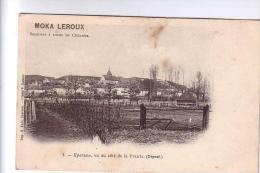 28 EPERNON Vue Côté Prairie Publicité MOKA LEROUX  CPA - Advertising