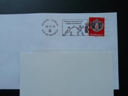 23/11/2015 Tournoi International D'épée Flamme Monaco Sur Lettre Postmark On Cover - Storia Postale