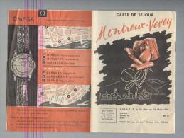 DEPILIANT OROLOGI,MONTREUX-VEVEY 1961..HOROLOGERIE,WATCH ..VEDI FOTO - Orologi Da Polso