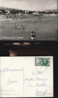 3669) TERAMO GIULIANOVA LIDO LA SPIAGGIA VIAGGIATA 1953 INSOLITA - Teramo