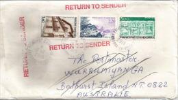 Lettre D'Andorre Adressée à Bathurst Island (Aboriginal Tiwi People) Australia,  Et Retour - Andorre Français