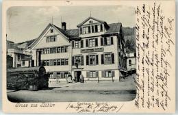 51036555 - BÜHLER - Gruss Aus...1904 - Gasthaus Zum Bahnhof Mit Lokomotive - AR Appenzell Ausserrhoden