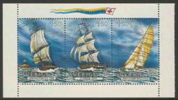 Sweden Sverige 1992 Mi 1709 /11 YT 1691 3 ** Frigate, Brig, Yacht / Segelschiffe, Segelyacht / Voiliers - Barche