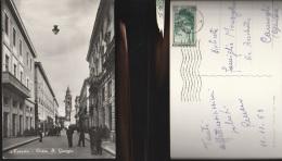 3674) TERAMO CORSO SAN GIORGIO VIAGGIATA 1953 - Teramo