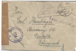 AUSTRIA 1947 CC A DINAMARCA TAXE PERCUE Y MARCA DE CENSURA W 794 - 1945-60 Brieven