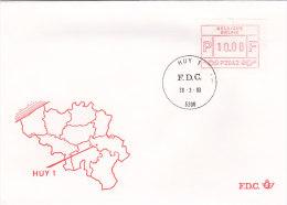 Belgien 1983 - Automatenmarken Ergänzungen Auf FDC - 28.03.1983 - Huy 1 - Automatenmarken (ATM)