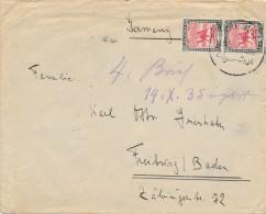 PORT SUDAN - 1935 , Brief Nach Freiburg ,  Big Letter, Dispatch = 4,20 EURO - Sudan (1954-...)