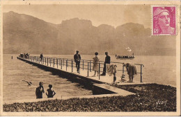 ANNECY ET SON LAC UN EMBARCADERE CPA ANIMEE - Annecy