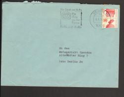 Berlin Ortsbrief 30 Pfg.Unfallverhütung Rollenmarke M.einer Ober-und UnterHälfte Durch Fehleinstellung Des Automaten - [5] Berlin