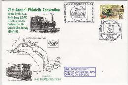 Isle Of Man: 21st Annual Philatelic Convention, Douglas, 5 October 1996 - Trains