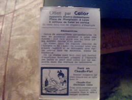 Vieux Papier Publicitaire Vignette Chromo   Collector Calor  Le Rhinoceros  Vintage - Publicités