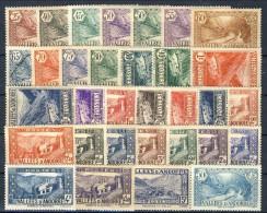 Andorra 1937-43 Serie N. 61-92 Paesaggi MNH E MH Catalogo € 320 - Andorra Francese