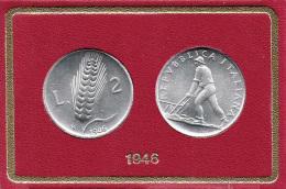 2 Lire 1946 SPIGA FDC Repubblica Italiana ( 1946 - 2001 ) - 1946-… : República