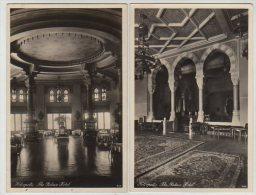 2 X RPPC´s,INTERIOR ,THE PALACE HOTEL,HELIOPOLIS, BY LEHNERT & LANDROCK,c1930s - Kairo
