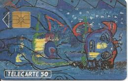 CARTE°-PUCE-PRIVEE-PUBLIC- 50U-EN-19-GEMA-03/91-RODIER 1-R° MAT-UTILISE-TBE- - France