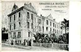 CPA -   Juan Les Pins -  Graziella Hôtel     ,animée      AH1497 - Juan-les-Pins