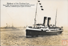 Pays Bas - Carte Postale PAQUEBOT - NIGHBOAT FLUSHING LINE -  Posted 1911 - Queenborough-Vlissingen - Paquebots