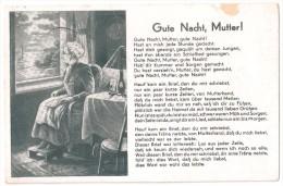 Gute Nacht, Mutter! Favorite Mom Lied Song Chanson - Drittes Reich WW2 WK2 1941 Germany - POSTCARD AK CPA - Postcards
