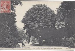 CHALONS SUR MARNE 1915 ? Timbre N° 147 Semeuse 5c Croix Rouge Sur Carte Jardin Du Jard Chalons Sur Marne - Marcophilie (Lettres)