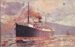 Canada - Carte Postale PAQUEBOT - CASSANDRA - Posted At Sea 1914 - Halifax - Received Form H.M. Ship - Piroscafi