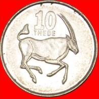 ★GAZELLE: BOTSWANA ★ 10 THEBE 1998! LOW START★ NO RESERVE!!! - Botswana