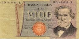 1000  - Banca D´italia  - Lire  Mille  - Decr. Min. 30 Maggio 1981  E  26  Febbraio 1969 - 1000 Lire