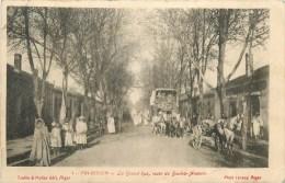 AIN-BESSEM - DILIGENCE - GRANDE RUE -  ROUTE DE BOUIRA - AUMALE -CPA - VOIR 2 SCANS. - Alger