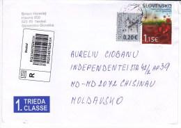 Slovenia   To Moldova ; 2015  ;  Architecture , Medicine  ; Used Cover - Slovenia