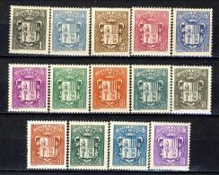 Andorra 1937-43 Serie N. 47-60 Stemmi MVLH Catalogo € 87 - Andorra Francese