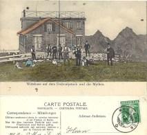 Wirtshaus Auf Dem Fronalpstock Und Die Mythen            1912 - SZ Schwyz