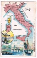 Amidon REMY Carte Géographique ITALIE - 2 Scans - Mapas
