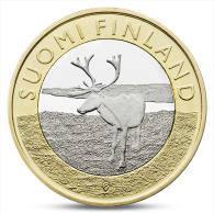 FINLAND FINLANDE FINNLAND 5 EURO ANIMALS PROVINCES - LAPLAND REINDEER 2015 - Finland