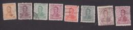 Argentina, Scott #249-254, 257-258, Used, Jose De San Martin, Issued 1918 - Usati