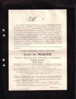 LAUSANNE WESTERLO Henri Comte De MERODE 1908 51 Ans Député Turnhout Ancien Ministre Affaires Etrangères Doodsbrief - Décès