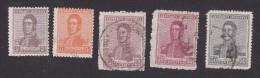 Argentina, Scott #250, 253, 257-259, Used, Jose De San Martin, Issued 1918 - Usati