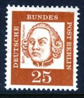 WEST BERLIN - 1961 FAMOUS GERMANS 25PF SG B200 FINE MNH ** - Beroemde Personen