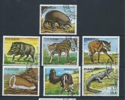 Paraguay 1984 Endangered Animals Set Of 7 Singles VFU - Paraguay